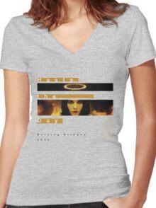 Haste the Day Burning Bridges Women's Fitted V-Neck T-Shirt