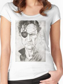 Walking Dead The Governor by Sheik Women's Fitted Scoop T-Shirt
