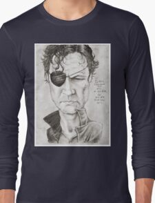 Walking Dead The Governor by Sheik Long Sleeve T-Shirt