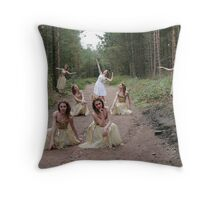 Lizzie as Multiple Fairies in Lady Canning's Plantation Throw Pillow