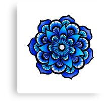 Blue Mandala Canvas Print