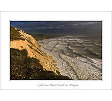 Gale Force Wind, South Isle of Wight Photographic Print