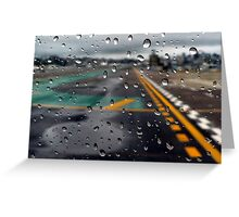 Sparkle of Raindrops: Runway Greeting Card
