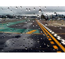 Sparkle of Raindrops: Runway Photographic Print