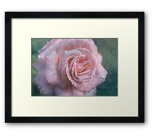 Vintage Rosa  - JUSTART © Framed Print