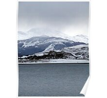 Winter in the Scottish Highlands Poster
