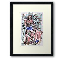 """Drawing: """"Francis Bacon Archive V (2010) (Boxing)"""" by artcollect Framed Print"""
