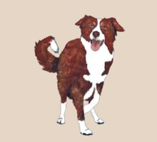 Border Collie T-shirt by Barbara Applegate