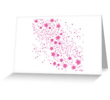 Cherry Blossom Princess on White Greeting Card