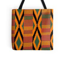 Kente print drawing Tote Bag