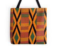 Kente print drawing Tote Bag