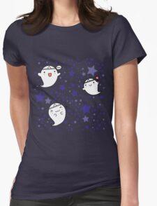 Kawaii Cute Halloween Ghosts Womens Fitted T-Shirt