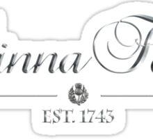 Dinna Fash est 1743 (silver) Sticker