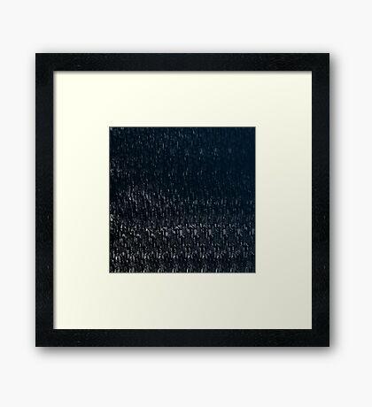 Knitted Stone. Framed Print