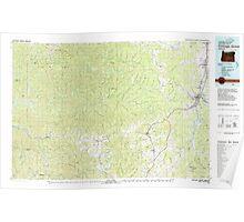 USGS Topo Map Oregon Cottage Grove 283068 1979 100000 Poster