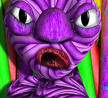 Purple Chalk Monster  in Anger by GolemAura