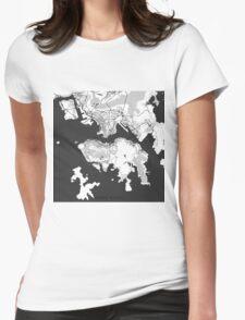 Hong Kong Map Gray T-Shirt
