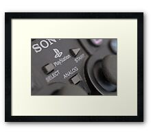 Sony Playstation controller Framed Print