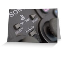 Sony Playstation controller Greeting Card