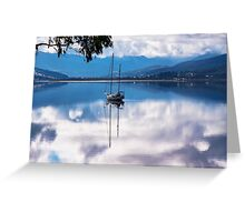 Huon River Clouds and Reflections Greeting Card