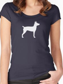 Rat Terrier Silhouette(s) Women's Fitted Scoop T-Shirt