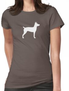 Rat Terrier Silhouette(s) Womens Fitted T-Shirt