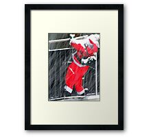 Climbing for Christmas Framed Print