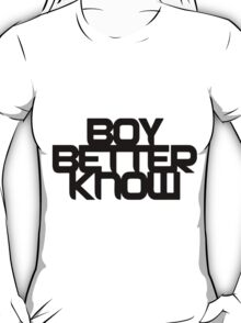 Boy Better Know - Black T-Shirt