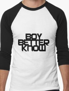 Boy Better Know - Black Logo, Middle Placement - BBK Men's Baseball ¾ T-Shirt