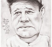 'Babe Ruth' gourmet caricature by Sheik by sheik1