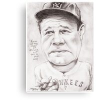 'Babe Ruth' gourmet caricature by Sheik Canvas Print
