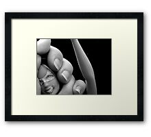 Caught! Framed Print