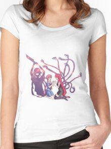 future diary mirai nikki elfen lied lucy yuno gasai anime manga shirt Women's Fitted Scoop T-Shirt