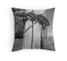 Rugged and Rusty Throw Pillow