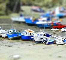 Boats in Newquay Harbour (tiltshift) by rkdownton