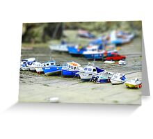 Boats in Newquay Harbour (tiltshift) Greeting Card
