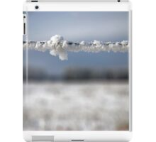 frost on barbed wire iPad Case/Skin