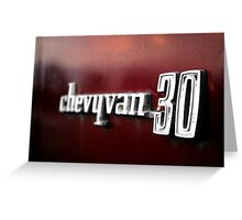 Chevy Van 30 Greeting Card