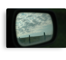 wing mirror scenic view Canvas Print