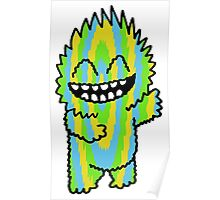 Happy Cutie Blue Green & Yellow Poster