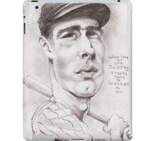 'Joe DiMaggio' gourmet caricature by Sheik iPad Case/Skin