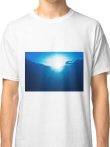 Abstraction with water and sun rays Classic T-Shirt
