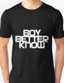 Boy Better Know - White Logo, Middle Placement T-Shirt