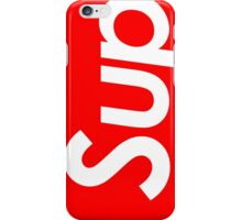 "Supreme style ""sup"" iPhone Case/Skin"