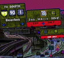 Jacksonville - to the beaches Sticker