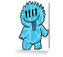 Mister Fuzz Alien Light Blue Greeting Card