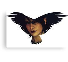 Morrigan (raven) Canvas Print