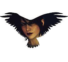 Morrigan (raven) Photographic Print