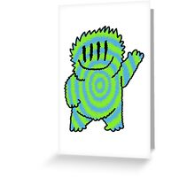 Big Mister Friendly Blue & Green Greeting Card