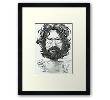 'Jerry' gourmet caricature by Sheik Framed Print